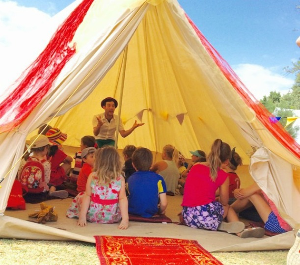 Waggle Dance storytelling tent