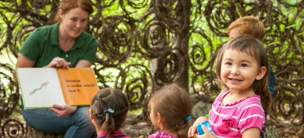 Storytime in the gardens