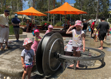 Darling Quarter Playground is a summer wonderland