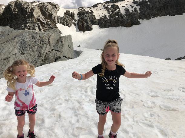 Fox Glacier with kids