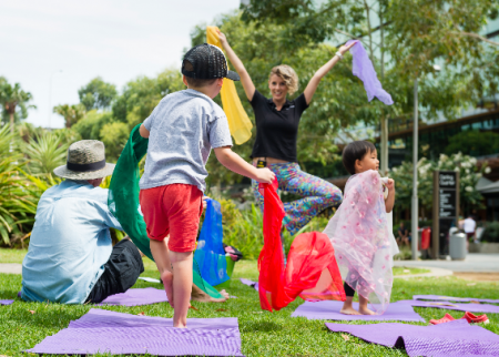 Free kids Yoga at the Village Green