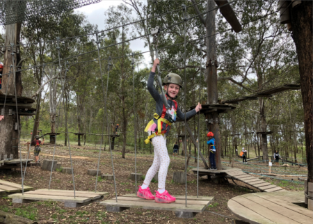 Monkeying around at Tree Top Adventure Park